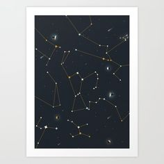Orion and the Pleiades Art Print by Iulian Cetanas - X-Small The Pleiades, Art Prints, Products, Beauty Products, Art Print