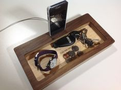 iPhone 6 Docking Station and Catch-All Organizer- ThePort by Wudzeedotcom on Etsy https://www.etsy.com/listing/203352372/iphone-6-docking-station-and-catch-all