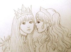 """suspicious-and-malicious: """" Evangeline and Elane art by me """""""