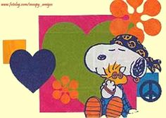'Groovy Friends', Snoopy and Woodstock.