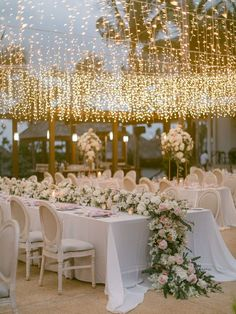 Lovers of lush flower aisles and Thailand beach weddings, flock this way! This real life wedding is filled with pastel blooms, twinkle lights and all the ingredients for a fairytale beach wedding your guests will never forget. See all the magic on the blog now! #thailandwedding #destinationweddingplanner #floweraisle Evening Wedding Receptions, Wedding Reception Lighting, Reception Seating, Marquee Wedding, Event Lighting, Wedding Set Up, Wedding Table, Thailand Wedding, Beach Gardens