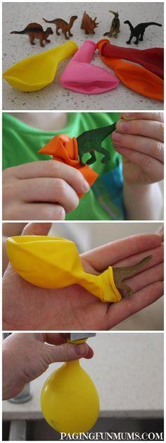 DIY Frozen Dinosaur Eggs for Dino Themed Birthday Party Dinosaurs Preschool, Dinosaur Activities, Dinosaur Crafts, Craft Activities For Kids, Toddler Activities, Projects For Kids, Diy For Kids, Crafts For Kids, Preschool Learning