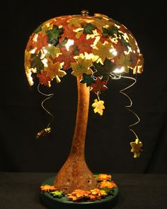 finished gourd lamp, March 2012