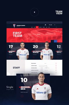 Górnik Zabrze is a Polish football club from Zabrze. Górnik is one of the most successful Polish football clubs in history, winning the most Polish Championship titles. Web Design, Game Ui Design, Football Sites, Online Workout Videos, Fc Nantes, Sports Graphic Design, Sports Website, Team Page, Player Card