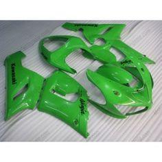 Kawasaki NINJA ZX6R 2005-2006 Injection ABS Fairing - Others - All Green   $639.00