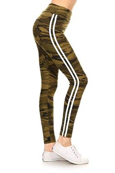 2ccab6a4ecfab Leggings Depot Yoga Waist REG/Plus Women's Buttery Soft Leggings  (Camouflage Army, One