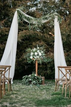 Green ceremony space for outdoor wedding -----pinned by sheer ever after weddings