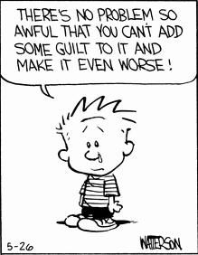 #Guilt | Calvin and Hobbes Comic Strip, May 26, 1986 © Bill Watterson
