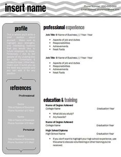 Free Creative Resume Template  Recipes To Cook