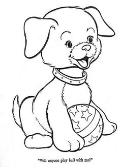Worksheet. dog pictures to color  Puppy picture to color  Embroidery