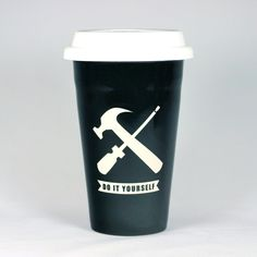 Handyman mugs and more - gifts for Makers and Father's Day, by Bread and Badger #Handyman #DIY #mugs #travelmug #dads #fathers #men #doityourself #hammer #screwdriver