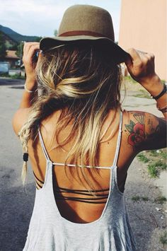 loose waves + ombre