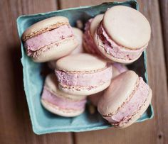 Macaron Strawberry Ice Cream Sandwiches.