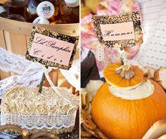 Vintage Pumpkin & Roses First Birthday