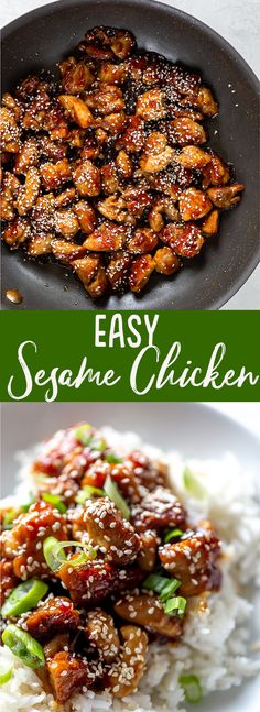 This Easy Sesame Chicken Recipe is a super fast dinner and better than takeout! | easy sesame chicken recipes | healthy sesame chicken | quick dinner recipe | chicken thigh recipe | Healthy Sesame Chicken, Healthy Chicken Recipes, Fast Dinners, Chicken Thigh Recipes, Quick Dinner Recipes, Chicken Thighs, Ethnic Recipes, Food, Chicken Drumsticks