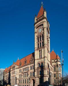 Cincinnati City Hall. Samuel Hannaford, architect