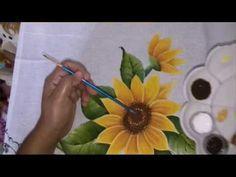 Pintura em tecido girassol | Cantinho do Video