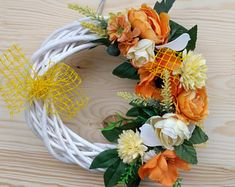 Spring wreaths, wreats for front door, white wreath, wreaths for front door year round, Easter decoration, artificial flowers, outdoor, gift