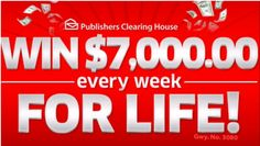 I think it's safe to say many of us dream of being a Publishers Clearing House Prize Winner! I know I am, and yes I enter every single sweepstakes Instant Win Sweepstakes, Online Sweepstakes, Win For Life, Winner Announcement, Congratulations To You, Publisher Clearing House, Winning Numbers, Home Logo, Dreaming Of You