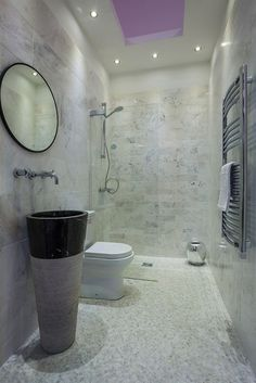 Conico Basin With Artic White Tiles