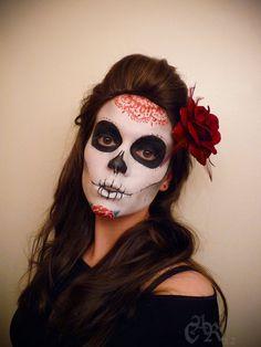 Beautiful sugar skull makeup!