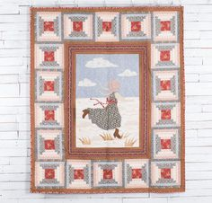 Andover Little House On The Prairie Fabric & Prairie Life Pattern Quilt Kit - White