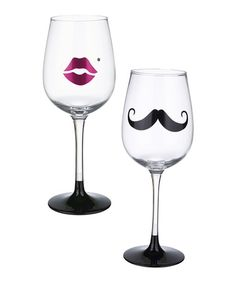 Look what I found on #zulily! His & Hers Wineglass Set by Grasslands Road #zulilyfinds