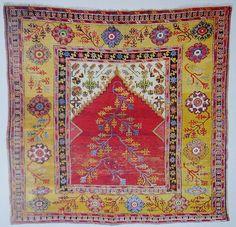Karaman village prayer rug ca 1750 Turkish Kilim Rugs, Persian Rug, Prayer Rug, Oriental Rugs, Kilims, Magic Carpet, Vintage Rugs, Rugs On Carpet, Bohemian Rug