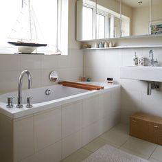 Modern white tiled bathroom | Bathroom decorating | Style at Home | Housetohome.co.uk
