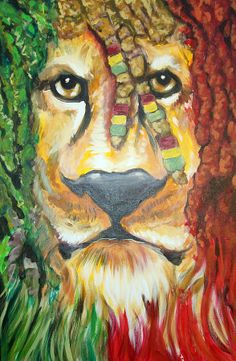 art painting jamican | King Of Jamaica Painting by Ottoniel Lima Lorinda Fore and Matt ...