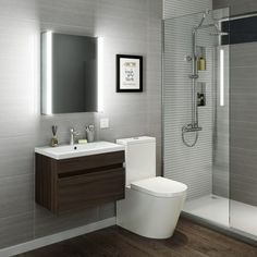 500mmx650mm Luminaire lluminated LED Mirror Cabinet, Bluetooth Speaker & Shaver Socket - soak.com