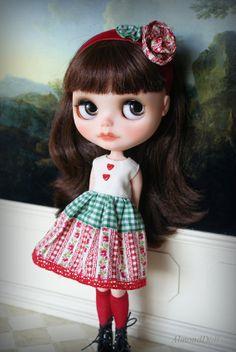 Lovely Garden - Blythe doll set - handmade outfit by AlmondDoll
