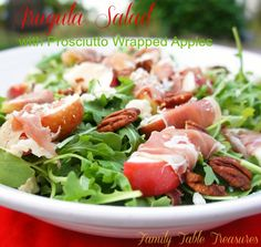Arugula Salad {with Prosciutto Wrapped Apples} - Family Table Treasures