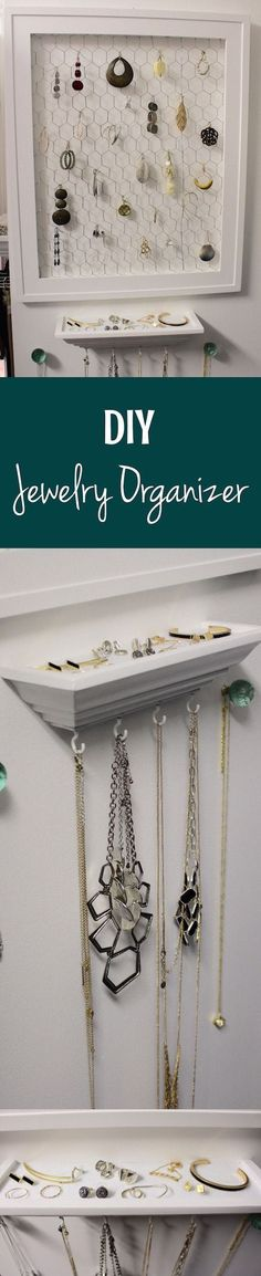 This DIY organizer solves all of your jewelry storage needs!
