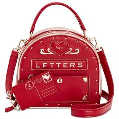 kate spade new york Yours Truly Mailbox Mini Bag ($378) ❤ liked on Polyvore featuring bags, handbags, multi, mini purse, red purse, red handbags, red mini bag and kate spade