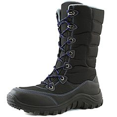 Women's DailyShoes Lace Up Warm Outdoor Hiking Mid Calf Ankle Snow Boots, 13