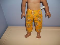 American 18 Inch Doll Clothes Capris tan and orange with Thanksgiving turkeys by sue18inchdollclothes on Etsy