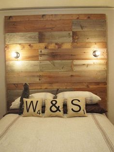 William & Sally's DIY Reclaimed Wood Headboard   Apartment Therapy