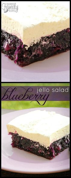 This Blueberry Jell-O Salad salad recipe is a fun variation from the original Jell-O salad. It's the perfect side for picnics, parties, and barbecues. via @favfamilyrecipz