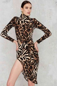 Leopard Day's Night Midi Dress | Shop Clothes at Nasty Gal!