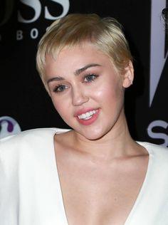 Miley Cyrus at the 2015 W Magazine Shooting Stars Exhibit Opening Really Short Hair, W Magazine, Shooting Stars, Miley Cyrus, Exhibit, Short Hair Styles, Women, Very Short Hair, Bob Styles
