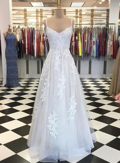 White Lace Tulle Long Summer Prom Dress, Evening Dress from Sweetheart Dress Deb Dresses, Cheap Prom Dresses, Formal Dresses, Wedding Dresses, Dress Prom, Bridesmaid Gowns, Lace Evening Dresses, Evening Gowns, Evening Party