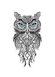 Image result for owl tattoo design old school...