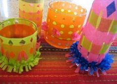 Looking for DIY table centerpieces that make a statement but don't cost a ton? This Colorful Cinco de Mayo Centerpiece will brighten any party! If fun Cinco de Mayo party ideas is what you want, try making your own Cinco de Mayo decorations! Kids Crafts, Party Crafts, Diy Party, Mardi Gras, Party Table Centerpieces, Centerpiece Ideas, Mexican Party Decorations, Festive Crafts, Mexican Crafts