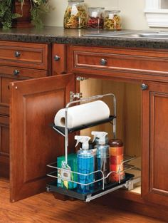 Amazon.com: Rev-A-Shelf 544-10C-1 Under Sink Pull-Out Removable Chrome Cleaning Caddy: Home & Kitchen