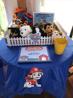 Paw patrol party ideas. Adopt a puppy