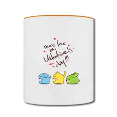 Valentine's Day Cute Cat Two-tone Mug Shop-Funny Accessories with 98% happy customers! Create custom shirts and personalized goods at HICustom,Use our online designer to add your design, logos, or text. easily!