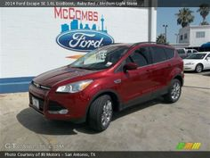 red ford escape | Ruby Red 2014 Ford Escape SE 1.6L EcoBoost with Medium Light Stone ...