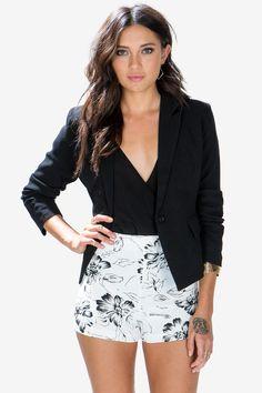Single Button Black Blazer, $28.50; at A'GACI