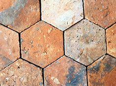 hexagon reclaimed tiles